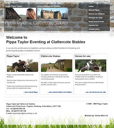 Pippa Taylor at Clattercote Stables